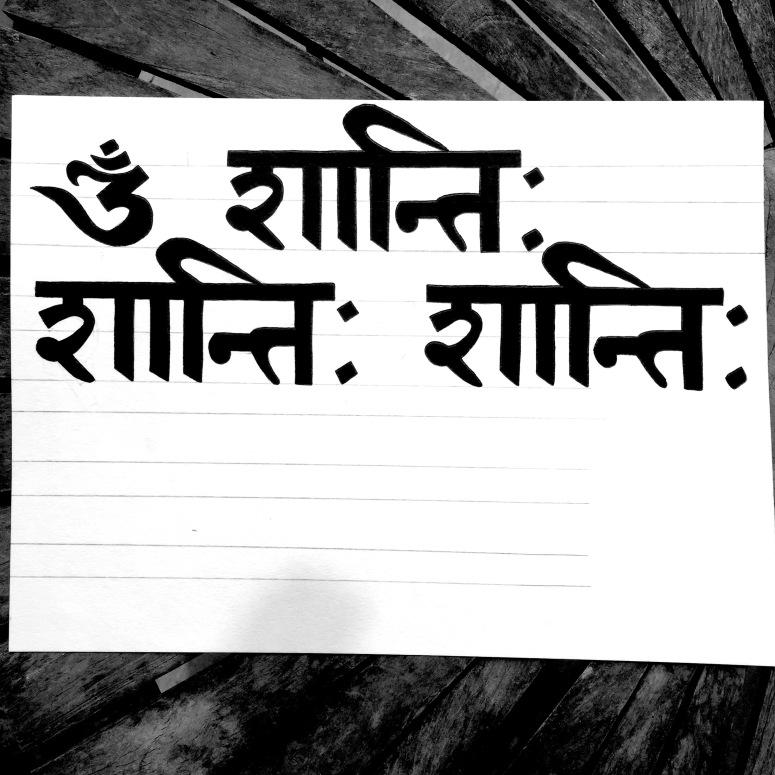 om shanti sanskrit